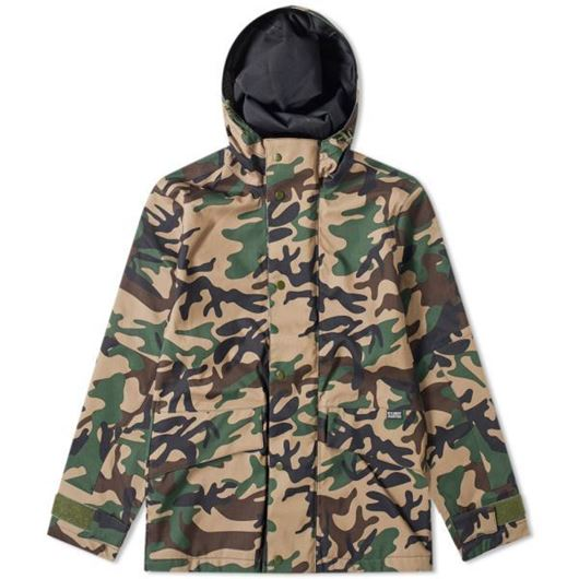 Picture of SHELL HOODED JACKET Camo