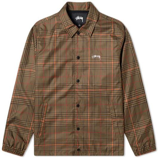Picture of PLAID COACH JACKET BROWN