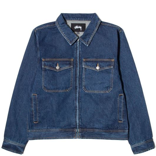 Picture of DENIM GARAGE JACKET DARK BLUE