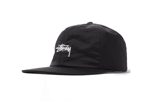 Picture of STOCK NYLON STRAPBACK CAP Black