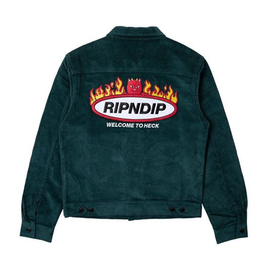 Picture of Welcome To Heck Corduroy Jacket Hunter Green
