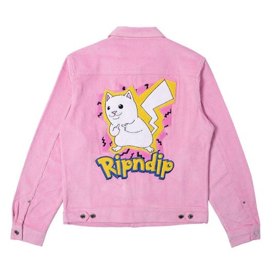 Picture of Catch Em All Corduroy Jacket Pink