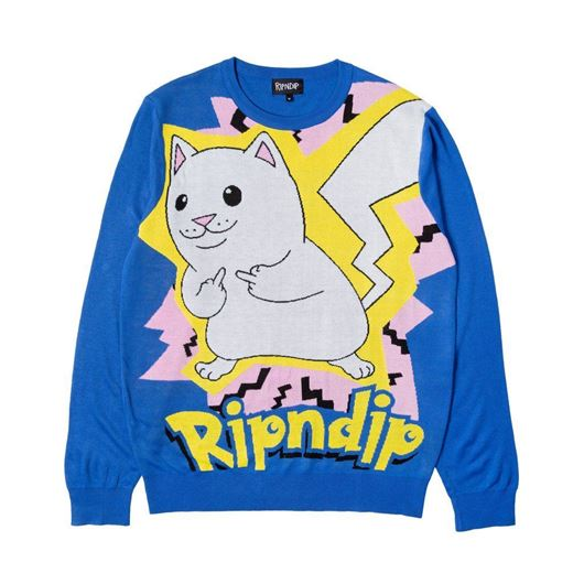 Picture of Catch Em All Sweater Blue