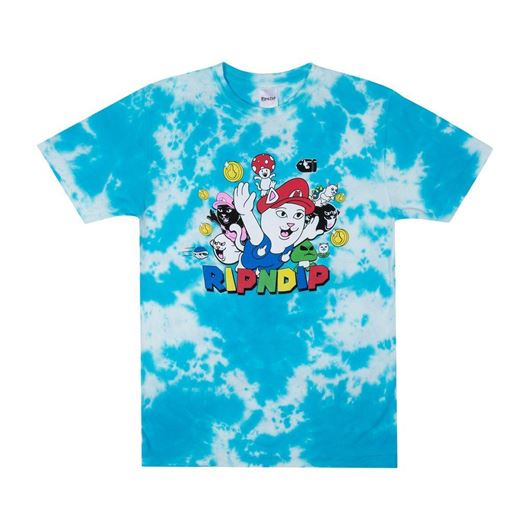 Picture of Nermio Tee Blue Cloud Wash