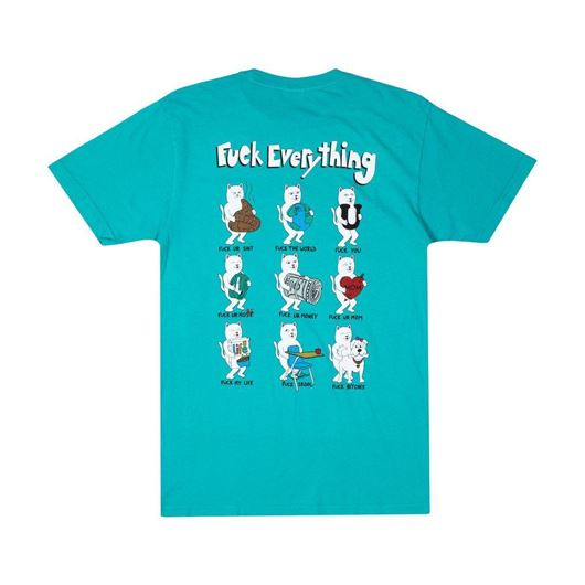 Picture of Fuck Everything Tee Aqua