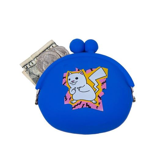 Picture of Catch Em All Rubber Coin Pouch Blue