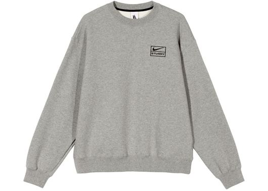 Picture of Nike x Stussy NRG BR Crew Fleece Gray