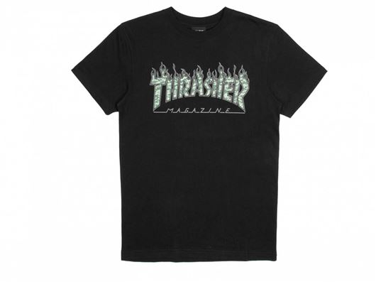 Picture of GREEN TIGER FLAME S/S T-SHIRT Black