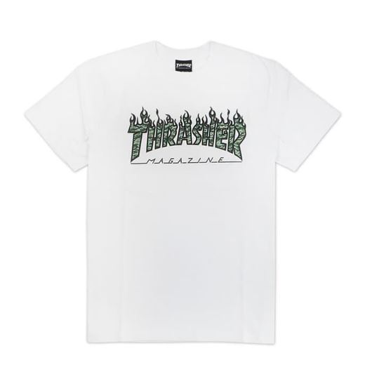 Picture of GREEN TIGER FLAME S/S T-SHIRT White