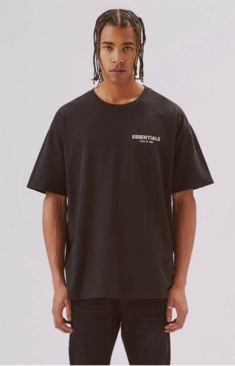 Picture of Fear Of God Essentials Boxy Logo Tee Black