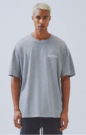 Picture of Fear Of God Essentials Boxy Logo Tee Grey