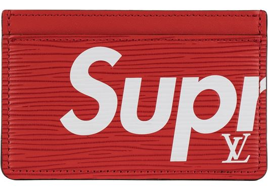 Picture of Louis Vuitton x Supreme Porte Carte Simple Epi Red