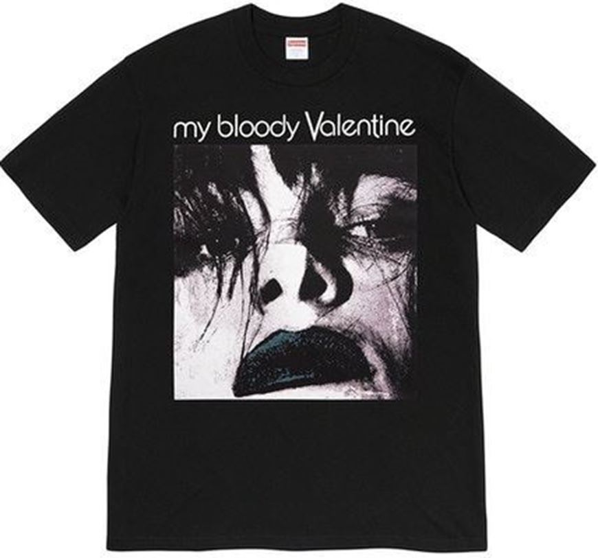 Picture of Supreme My Bloody Valentine Feed Me With Your Kiss Tee Black