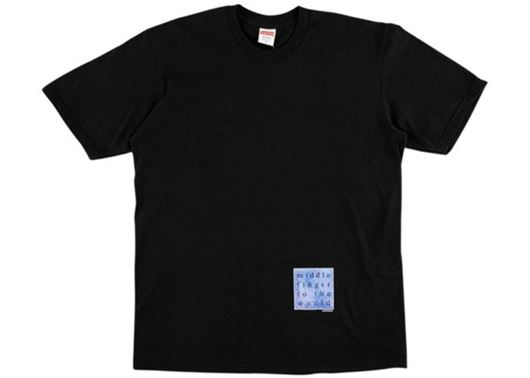 Picture of Supreme Middle Finger to the World Tee Black