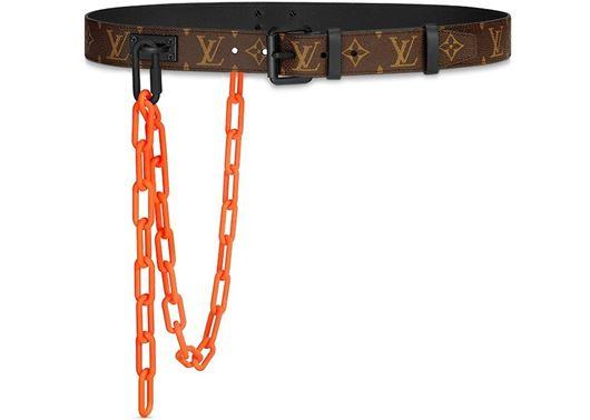 Picture of Louis Vuitton Signature Belt Monogram Chains 35MM Brown/Orange