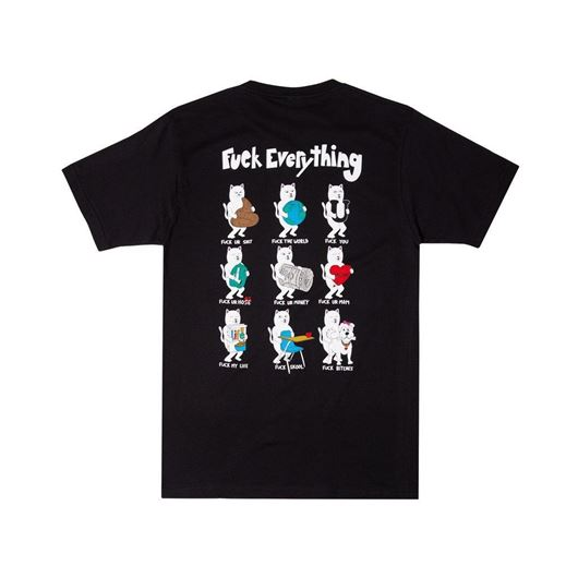 Picture of Fuck Everything Tee Black