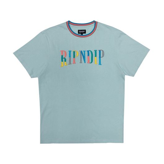 Picture of Color Block Logo Tee Ice Blue