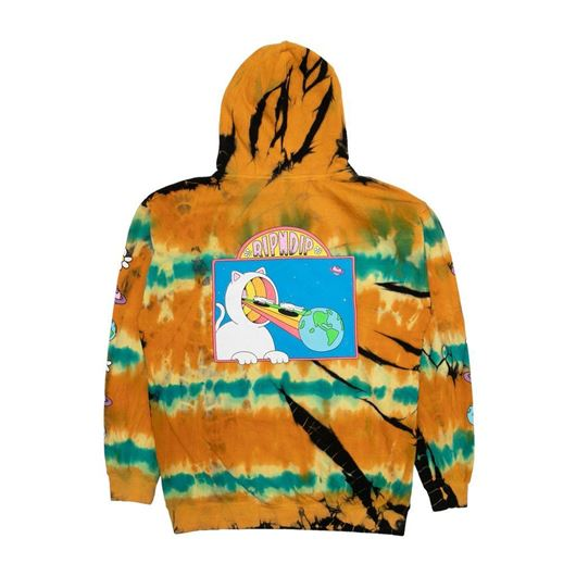 Picture of Open Minded Hoodie Orange/Blue Sunburst Dye