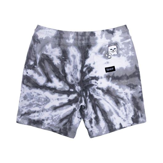 Picture of Peeking Nerm Sweat Shorts Black Spiral Tie Dye
