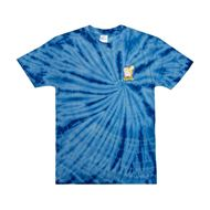 Picture of Catch Em All Tee Blue Spiral Dye