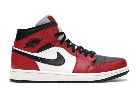 Picture of Jordan 1 Mid Chicago Black Toe