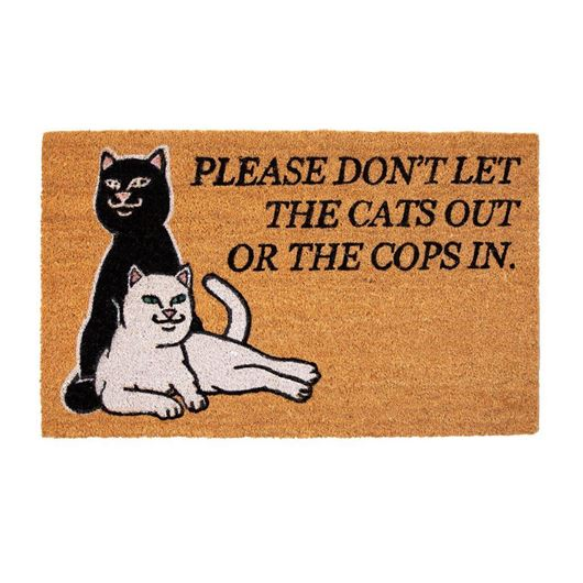 Picture of Don't Let The Cops In Door Mat