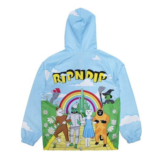 Picture of No Place Like Home Hooded Coaches Jacket Baby Blue