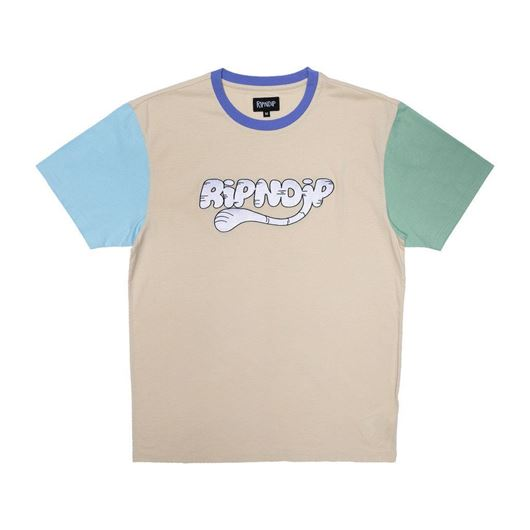 Picture of Ripntail Color Block Emboidered Tee Multi