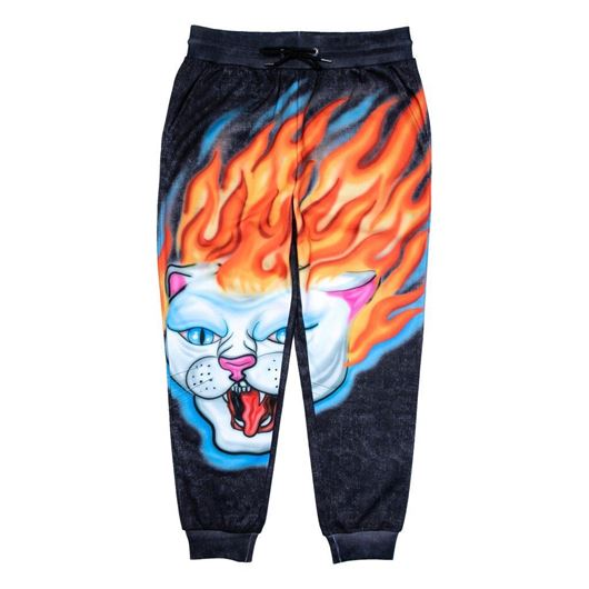 Picture of Hell Ride Sweat Pants Black