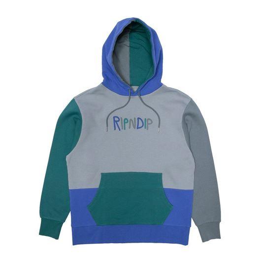 Picture of Ripndip Logo Color Block Hoodie Multi
