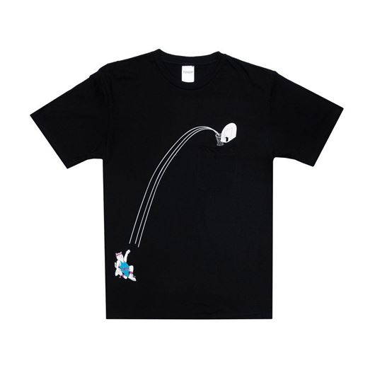 Picture of Hoops Pocket Tee Black