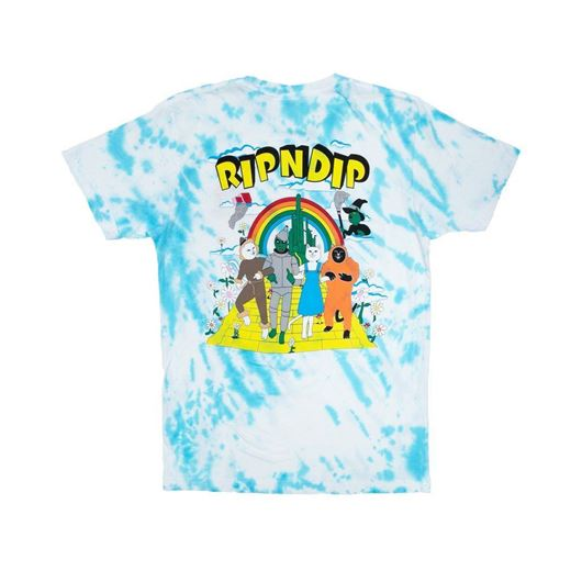 Picture of No Place Like Home Tee Blue Stripe Tie Dye