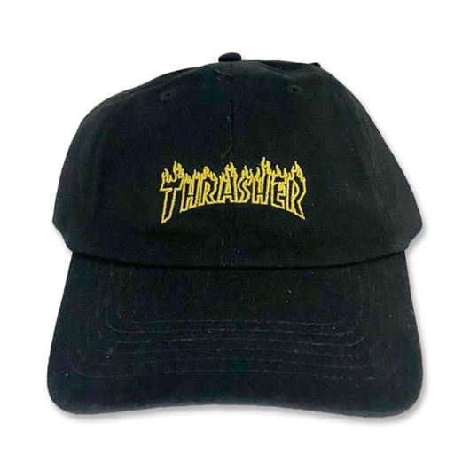 Picture of FLAME OUTLINE DAD CAP Black