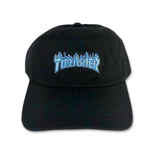 Picture of OUTLINE FLAME DAD CAP Black