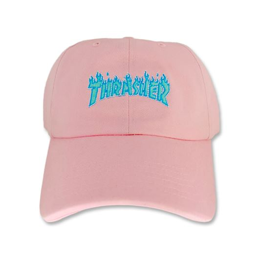 Picture of OUTLINE FLAME DAD CAP Pink