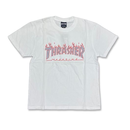 Picture of SPLATTER FLAME Tee White