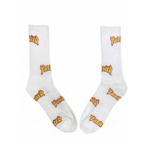 Picture of OG FLAME SOCKS White