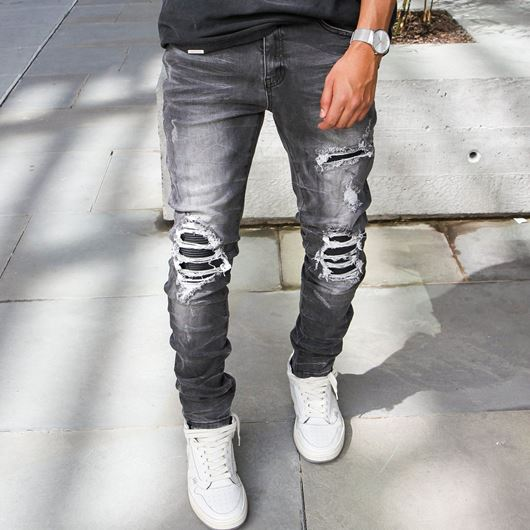 Picture of Biker Denim Vintage Grey