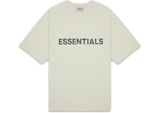 Picture of FEAR OF GOD ESSENTIALS 3D Silicon Applique Boxy T-Shirt Alfalfa Sage