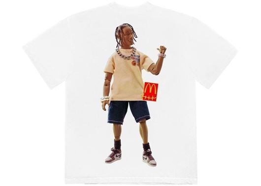 Picture of Travis Scott x McDonald's Action Figure Series T-Shirt White