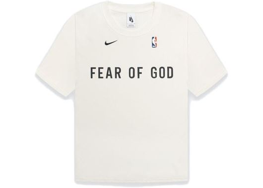 Picture of FEAR OF GOD x Nike Warm Up T-Shirt Sail