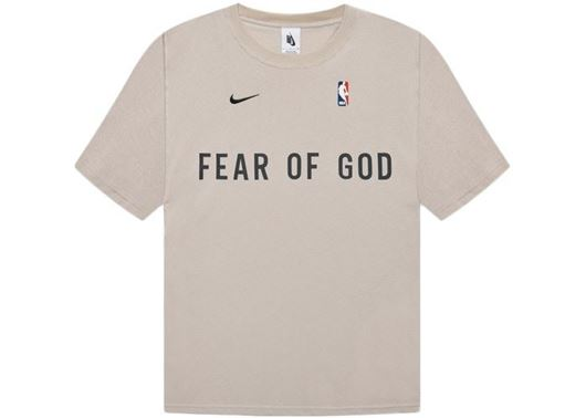 Picture of FEAR OF GOD x Nike Warm Up T-Shirt Oatmeal