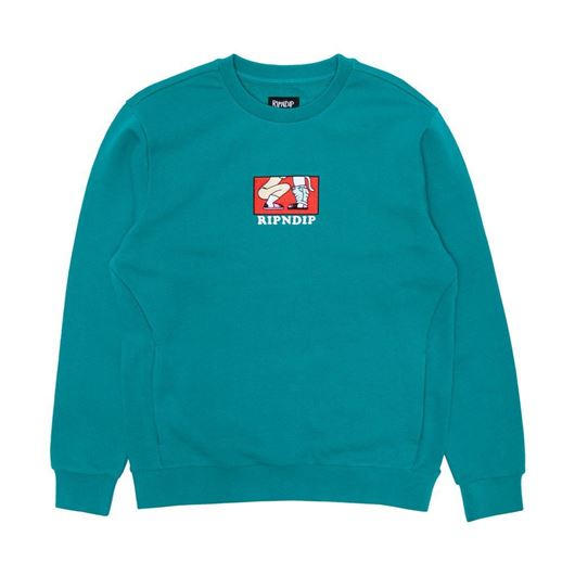 Picture of Love Is Blind Crewneck Sweater Teal