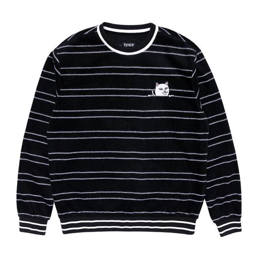 Picture of Peeking Nermal Polar Fleece Crewneck Black
