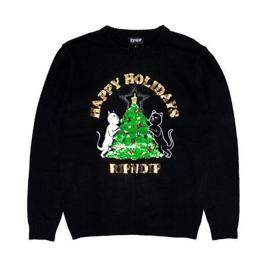 Picture of Litmas Tree Knitted Sweater Black