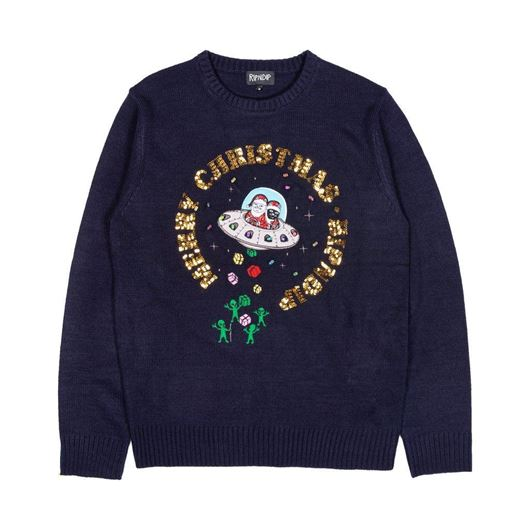 Picture of Merry Litmas Sweater Navy