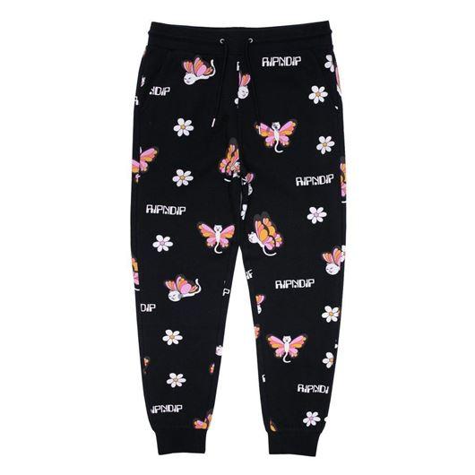 Picture of Butterfly Sweat Pants Black