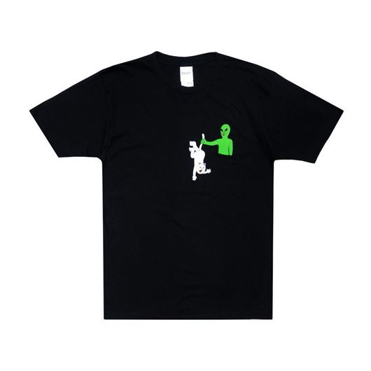 Picture of Hung Up Pocket Tee Black