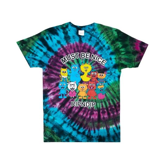 Picture of Nerm Street Tee  Multi Spiral Dye