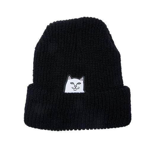 Picture of Lord Nermal Ribbed Beanie Black